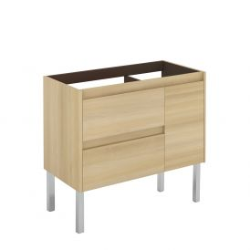WS Bath Collections Ambra 90F NO Vanity Base Unit in Nordic Oak