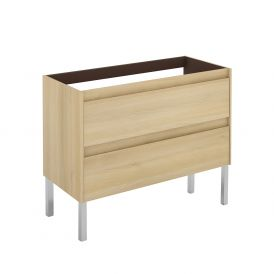 WS Bath Collections Ambra 100F NO Vanity Base Unit in Nordic Oak