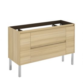 WS Bath Collections Ambra 120F NO Vanity Base Unit in Nordic Oak