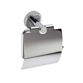 WS Bath Collections Styl A60260 AL Toilet Paper Holder with Cover in Polished Stainless Steel