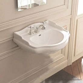 "WS Bath Collections Retro 1047 Vintage Wall Mount Bathroom Sink 28.7"" x 21.3"""