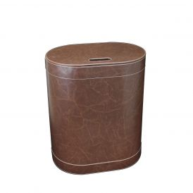 WS Bath Collections Vintage 2467 Leather Laundry Basket