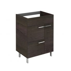 WS Bath Collections Elegance 60 WE Base Free Standing Bathroom Vanity, Wenge
