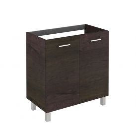 WS Bath Collections Logic 80 WE Base Free Standing Bathroom Vanity, Wenge