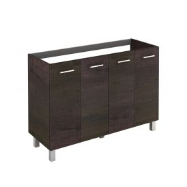 WS Bath Collections Logic 120 WE Base Free Standing Bathroom Vanity, Wenge