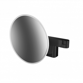 Spiegel 1095.133.30 Dimmable Matte Black LED Magnifying Mirror with 5x Magnification