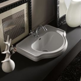 "WS Bath Collections Retro 1030 Drop-In Bathroom Sink 24.4"" x 18.1"""