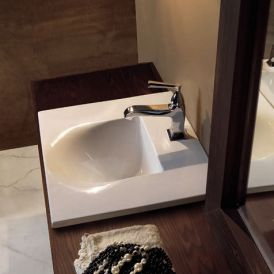 "WS Bath Collections Bentley 3942 Drop-In Bathroom Sink 21.7"" x 18.5"""