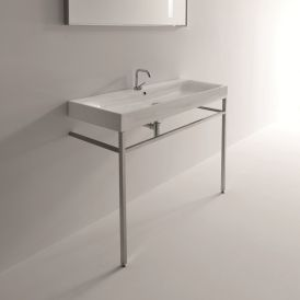 "WS Bath Collections Cento 3534 + 9123K1 Console Bathroom Sink 47.2"" x 17.7"""