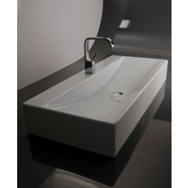 "WS Bath Collections LVR 106 Ceramic Bathroom Sink 41.1"" x 18.1"""