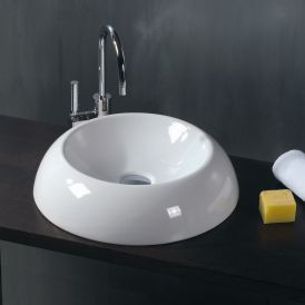 WS Bath Collections LVO 160 Vessel Bathroom Sink 18.5""
