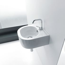 "WS Bath Collections Flo 3149 Wall Mounted / Vessel Bathroom Sink 15.7"" x 14.6"""