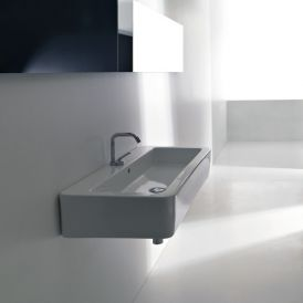 "WS Bath Collections Ego 3251 Wall Mounted / Vessel Bathroom Sink 35.4"" x 16.9"""