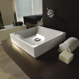 "WS Bath Collections Cento 3544 Vessel Bathroom Sink 17.7"" x 17.7"""