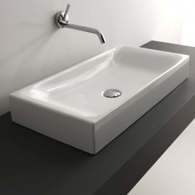 "WS Bath Collections Cento 3556 Vessel Bathroom Sink 27.6"" x 13.8"""