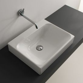 "WS Bath Collections Cento 3559 Vessel Bathroom Sink 19.7"" x 15.7"""