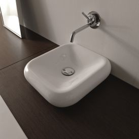 "WS Bath Collections Cento 3542 Wall Mounted / Vessel Bathroom Sink 15.7"" x 16.1"""