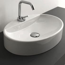 "WS Bath Collections Cento 3551 Vessel Bathroom Sink 19.7"" x 13.8"""