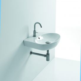"WS Bath Collections H10 50O Wall Mounted / Vessel Bathroom Sink 19.6"" x 16.9"""