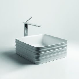 "WS Bath Collections Trace 38.38 Vessel Bathroom Sink 15.0"" x 15.0"""