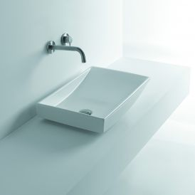 "WS Bath Collections Om Out 60 Vessel Bathroom Sink 23.6"" x 15.7"""