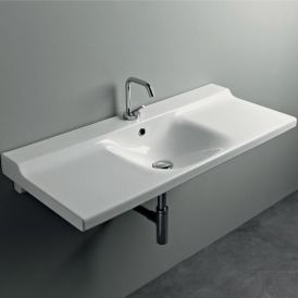 "WS Bath Collections Buddy 3423 Wall Mounted Bathroom Sink 39.4"" x 16.5"""