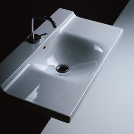 "WS Bath Collections Buddy 3403 Wall Mounted Bathroom Sink 31.5"" x 16.5"""