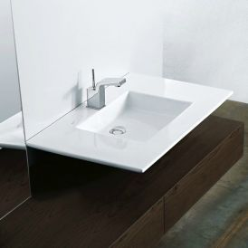 WS Bath Collections Tecno 2242 Wall Mounted / Vessel Bathroom Sink 31.5""