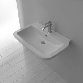 WS Bath Collections Nova 60 Wall Mounted Bathroom Sink 23.6""