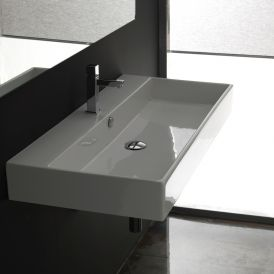 WS Bath Collections Unlimited 100 Wall Mounted / Vessel Bathroom Sink 39.4""