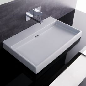 WS Bath Collections Urban 70 Wall Mounted / Vessel Bathroom Sink 27.6""