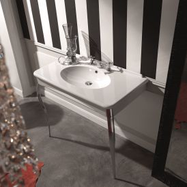 "WS Bath Collections Retro 1049 Console Bathroom Sink 39.4"" x 21.5"""