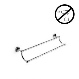 "WS Bath Collections Venessia 52917.29G Self-Adhesive 23.6"" Chrome Towel Bar"