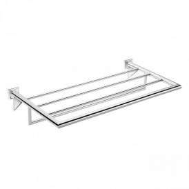 WS Bath Collections Kubic Class 43.51.10.002 Chrome Towel Rack 23.4""