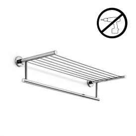 WS Bath Collections Spritz 52426G Self-Adhesive Chrome Towel Rack