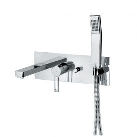 WS Bath Collections Ringo 001 Bath & Shower Mixer in Polished Chrome