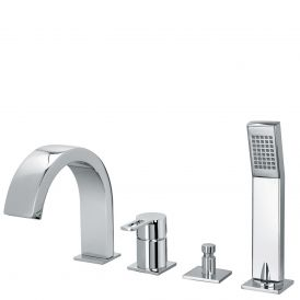 WS Bath Collections Ringo 043 Bath Mixer in Polished Chrome
