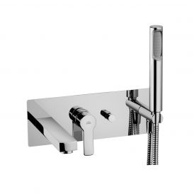 WS Bath Collections Red 001 Concealed Bath / Shower Mixer with Hand Shower