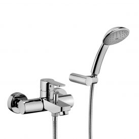 WS Bath Collections Red 024 Bath/Shower Mixer with Shower Kit