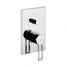 WS Bath Collections Ringo 015 Shower Mixer with Diverter in Polished Chrome