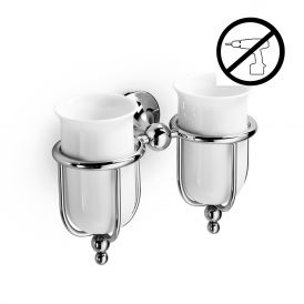 WS Bath Collections Venessia 52903.29G Self-Adhesive Double Toothbrush Holders
