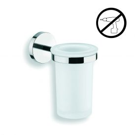 WS Bath Collections Duemila 55001.29+55003.81G Self-Adhesive Toothbrush Holder