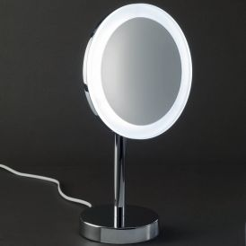 Smile 306 Magnifying Mirror illuminated in Chrome