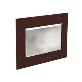 WS Bath Collections Bentley 918147 Wall Mounted Bathroom Mirror with Wood Frame