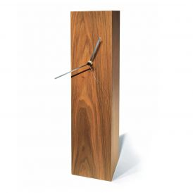 WS Bath Collections Totem 50 Walnut Table Clock