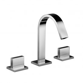 WS Bath Collections Level LEP 052 Three Hole Bathroom Faucet