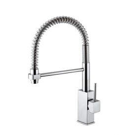WS Bath Collections Level LEA 176 Professional Kitchen Faucet with Hand Shower