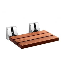 WS Bath Collections Scagni 54720 Wall-Mounted Teak Wood Folding Shower Seat