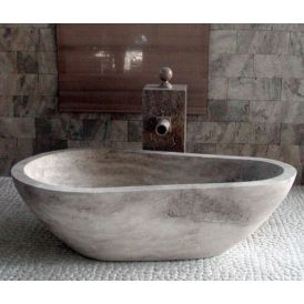 Piedra Pavo Free Standing Bathtub in Hand Carved Stone