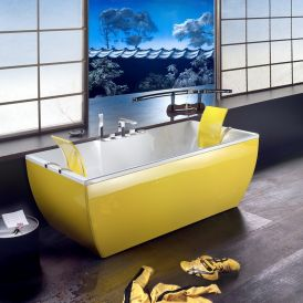 Kali Color Free Standing Bathtub in Yellow